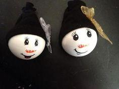 Kerstballen handgeschilderd! Ook kerstdecoratie