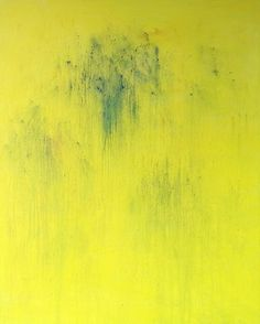 Yoon Joo, Painting #166 - Passing through a peach garden..... I found a waterfall... splashing down yellow droplets on ArtStack #yoon-joo #art
