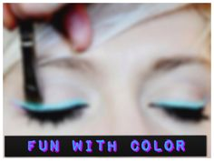 fun with color eyeliner