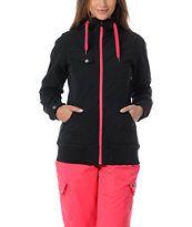 Empyre Girls Skyline Black & Pink 10K Softshell Snow Jacket