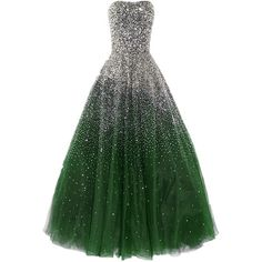 Amazon.com: Dressesonline Prom Dresses Long with Rhinestones Prom... (€180) ❤ liked on Polyvore featuring dresses, gowns, long dress, long evening gowns, green ball gown, prom evening dresses, prom dresses and long green evening dress