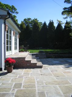Reclaimed paved area in Yorkstone and steps from part of a . - Reclaimed paved area in Yorkstone and steps from part of a … - Patio Steps, Garden Steps, Kids Outdoor Furniture, Outdoor Decor, York Stone, Driveway Design, Outside Room, Garden Design, Landscape