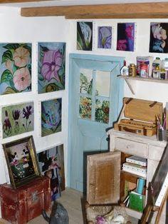 L'atelier de peintre de Catherine - Mooghis Cath Vitrines miniatures