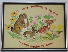 On S A L E... Vintage Crewel Embroidery Picture by JudysJunktion