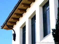 9 Easy Clever Ideas: Shed Roofing Rafters roofing structure timber.Glass Roofing Garage green roofing shed.Shed Roofing Repair. Spanish House, Spanish Style, Spanish Colonial, Corbels Exterior, Roof Eaves, Spanish Exterior, Wooden Corbels, Fibreglass Roof, Villa