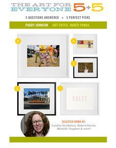 5+5: Paddy Johnson | Art Critic. Naked Panda. 5 Perfect Art Picks & 5 Questions Answered!