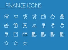 Finance Line and Solid Icons #freeicons #vectoricons #vectorlineicons #solidicons #UIicons