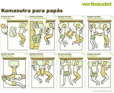 Los padres tenemos mucha práctica con estas posturas :)