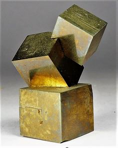 pyrite cube stack, crystals and minerals, specimens Minerals And Gemstones, Rocks And Minerals, Natural Gemstones, Cool Rocks, Mineral Stone, Rocks And Gems, Oeuvre D'art, Stones And Crystals, Creations