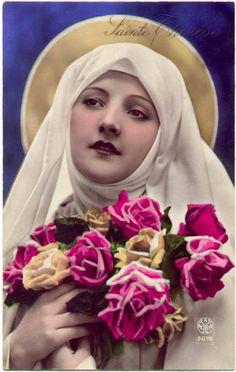 madonna old holywood Catholic Art, Catholic Saints, Patron Saints, Catholic Hymns, Religious Images, Religious Icons, Religious Art, Sainte Therese De Lisieux, Ste Therese