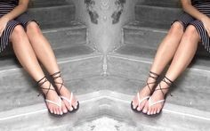DIY Lace Up Sandals