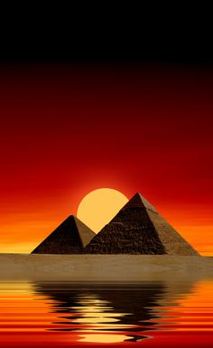Sunset Egyptian Pyramids