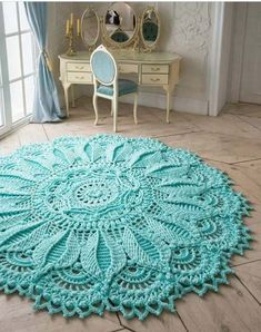 These beautiful Carpet Crochet Doily Rug Pattern Ideas!!