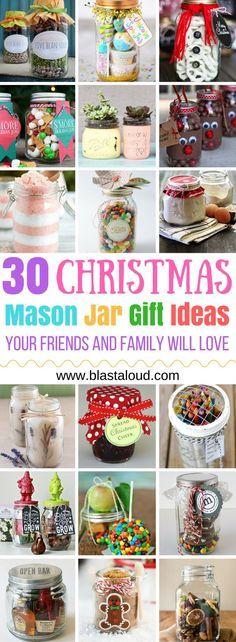 Mason Jar Christmas Gifts, Mason Jar Gifts, Mason Jar Diy, Xmas Gifts, Christmas Crafts, Family Christmas, Christmas Presents, Christmas Ideas, Gift Jars