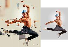 Pixelated action