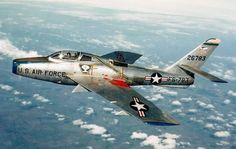 F-84F Thunderstreak in flight