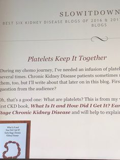Chronic Kidney Disease, Writing, This Or That Questions, Blog, Letter