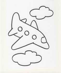 how to draw a cartoon airplane step by step