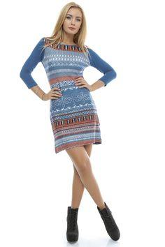 Rochie multicolora - DR2617 Sweaters, Casual, Dresses, Style, Fashion, Vestidos, Swag, Moda, Fashion Styles