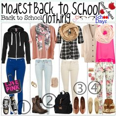"""Modest back to school clothing"" by polyvoretipsters on Polyvore"