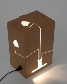 Cardboard box lamp-Reflection