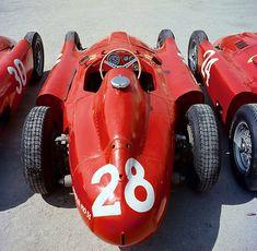 Eugenio Castellotti (24), Luigi Musso (28) & Alfonso De Portago (30) - Ferrari D50 - Italian GP 1956