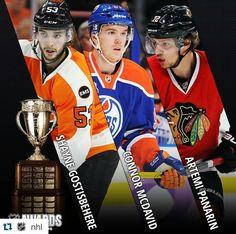 The Calder Trophy finalists. #NHLAwards  2016