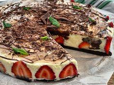 Τούρτα Φράουλας με Μους Λευκής Σοκολάτας - Lambros Vakiaros Tiramisu, Sweets, Ethnic Recipes, Desserts, Food, Youtube, Tailgate Desserts, Deserts, Gummi Candy
