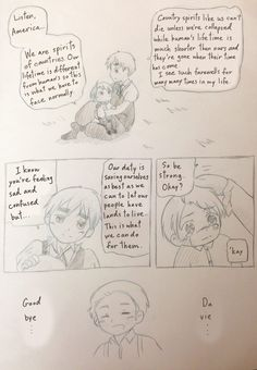 (Page 2) Awww my little Alfred don't cry coz your tears will be dried up by the times gone by (Am I calming him down or making him cries more...) ☁️Chibidora☁️