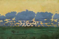 Thomas Cooper Gotch (1854-1931): Puesta del sol (sin fecha)