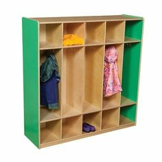 Wood Designs 51200 Five Section Locker Color: Green Apple by Wood Designs. $359.95. 51200G Color: Green Apple Features: -Five section locker.-5 Double hook sections with storage above and below make it the most popular locker unit.-Fully assembled.-All surfaces and back are 100 percent Healthy Kids plywood.-Made in USA. Construction: -Solid 11 ply baltic birch plywood construction. Color/Finish: -Tuff gloss finish. Warranty: -Manufacturer provides lifetime warranty.