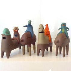 Whimsical ceramic sculptures by Argentine artist polverigiani available at adaro art gallery in Florida. Art Sculptures, Ceramic Sculptures, Whimsical, Dinosaur Stuffed Animal, Art Gallery, Florida, The Incredibles, Ceramics, Make It Yourself