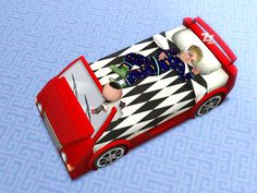 Racecar bed for toddlers by QuizicalGin #Sims3