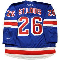 Steiner Martin St. Louis Signed Blue Premier New York Rangers Jersey