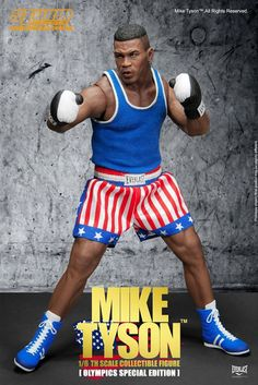 onesixthscalepictures: STORM Collectibles Olympics Special Edition MIKE TYSON : Latest product news for scale figures inch collectibles). Mike Tyson, Figure Poses, Rocky Balboa, Star Wars Toys, Sports Toys, Nightmare On Elm Street, Ufc, Beautiful Dolls, Cool Toys