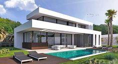 Benissa - Moderne design villa te bouwen in het kustgebied van Benissa, op slechts 400 meter afstand van zee