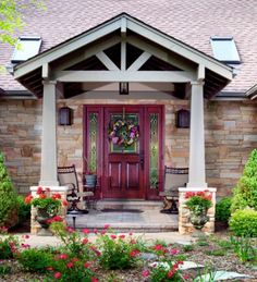 Intersecting Gable Roof to Ranch House - Porches & Decks Forum - GardenWeb