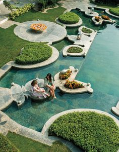 Cooling off at Udaipur's Taj Lake Palace. See more at… Bollywood Stars, Pool Designs, Landscape Design, Travel Inspiration, Travel Ideas, Places To Go, Beautiful Places, Around The Worlds, Exterior