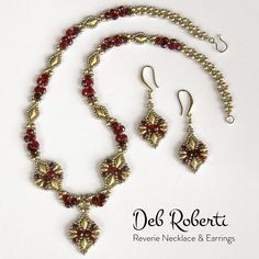 Reverie Necklace Earrings   Bead-Patterns.com