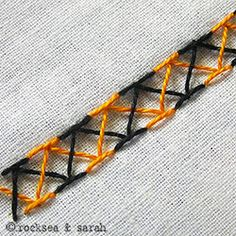 double chevron stitch » Sarah's Hand Embroidery Tutorials