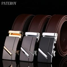f0b882ffb885 Cheap cinto masculino, Buy Quality cinturones hombre directly from China  ceinture designer Suppliers: PATEROY Male Waist Belts Genuine Leather  Automatic Men ...