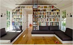 Library and media room