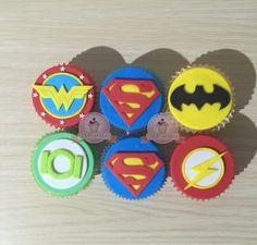 Cupcakes superheroes. Cupcakes superman. Cupcake batman. Cupcakes flash. Cupcakes linterna verde. Cupcake mujer maravilla