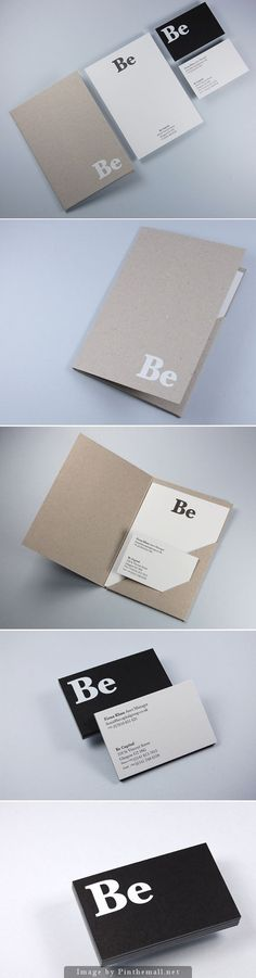 Corporate identity branding business card letterpress notebook minimal craft paper folder flyer graphic design