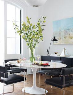Design Icon Knoll Saarinen Tulip Dining Table OFFICE Pinterest - White saarinen oval dining table