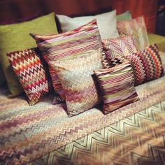Missoni Home Bedding from I Saloni 2012...afraid of the price tags