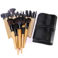 BESTOPE 32PCs Professional Makeup Brushes Set Synthetic Kakubi Cosmetic Foundation Blending Blush Eyeliner Face Powder Mac Makeup Brush Kit with Leather Traverl Pouch Bag Case ** Wow! I love this. Check it out now! : Makeup brushes
