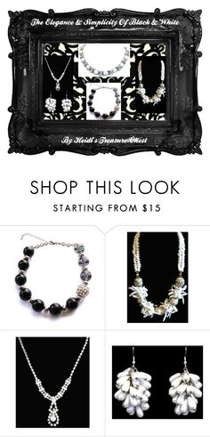 """""""The Elegance & Simplicity Of Black & White"""" by heidi-calamia-galati ❤ liked on Polyvore featuring Timorous Beasties and Trifari"""