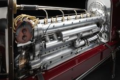 The 1924 Miller is a board track racing car with an eight-cylinder in-line engine, 100 inch wheelbase, and weight of pounds. Hemi Engine, Motor Engine, Us Cars, Race Cars, Vintage Race Car, The Rev, Men Design, Car Parts, Grand Prix