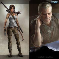 El nuevo Tomb Raider llega en el 2013 - Como se anunciara oficialmente hace unos días, la fecha de lanzamiento de Tomb Raider está fijada para el 5 de Marzo de 2013. Su desembarco será en los formatos PC, PlayStation 3 y Xbox 360. Aquí les mostramos  los principales personajes de esta nueva saga: la estudiante de arqueología Lara Croft y el veterano cazador de tesoros Capitán Conrad Roth.